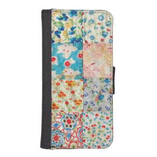 ヴィンテージのパッチワークのプリントの財布の電話箱 iPhoneSE/5/5sウォレットケース