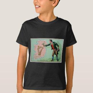 ヴィンテージのパトリキウスの日のエリンの島ポスター Tシャツ