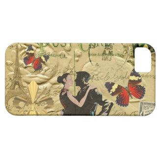 ヴィンテージのパリのタンゴの郵便はがき iPhone SE/5/5s ケース