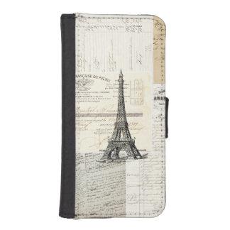 ヴィンテージのパリのフランスのな短命なもののウォレットケース iPhoneSE/5/5sウォレットケース