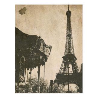 ヴィンテージのパリの郵便はがき、エッフェル塔 ポストカード