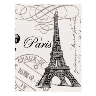 ヴィンテージのパリの…郵便はがき ポストカード