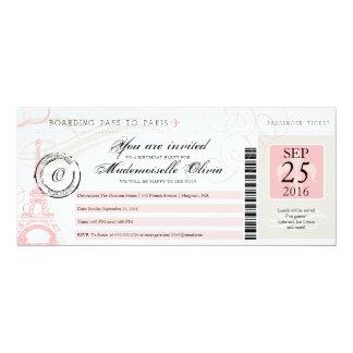 ヴィンテージのパリフランスの誕生会の搭乗券 カード
