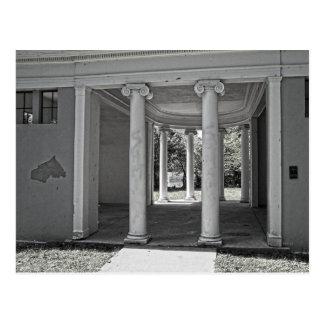 ヴィンテージのパルテノンの柱 ポストカード