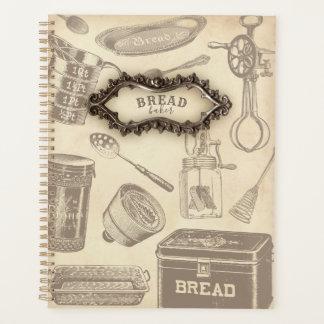 ヴィンテージのパンのパン屋のプランナー プランナー手帳