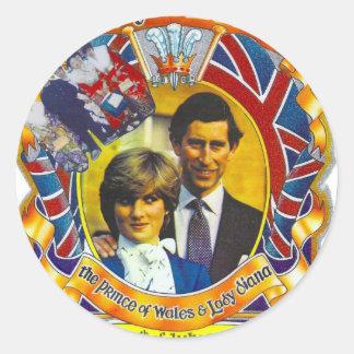 ヴィンテージのパンク80' sroyal結婚のチャールズおよびディディミアム ラウンドシール