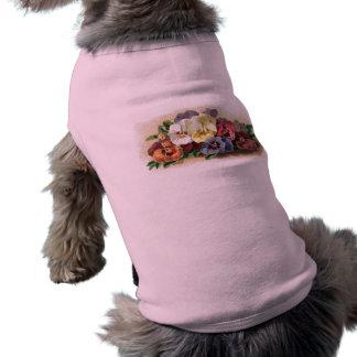 ヴィンテージのパンジーペットTシャツ ペット服