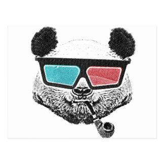 ヴィンテージのパンダの3Dガラス ポストカード