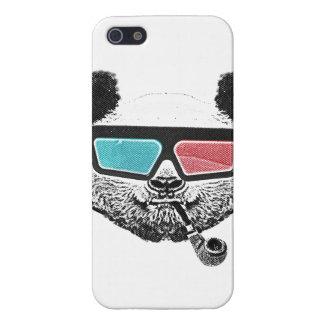 ヴィンテージのパンダの3Dガラス iPhone 5 カバー