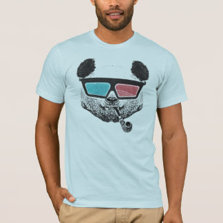 ヴィンテージのパンダの3Dガラス Tシャツ