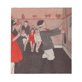 ヴィンテージのパーティー用のゲーム- Pinろばの尾 ノートパッド
