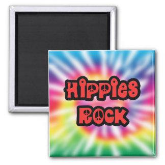ヴィンテージのヒッピーの石の絞り染めの磁石 マグネット