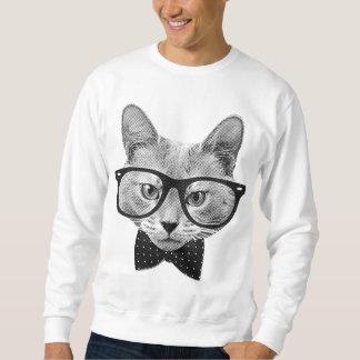 ヴィンテージのヒップスター猫 スウェットシャツ