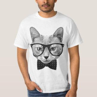 ヴィンテージのヒップスター猫 Tシャツ