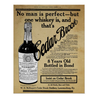 ヴィンテージのヒマラヤスギの小川のウィスキーのバーのプリントの広告 ポスター
