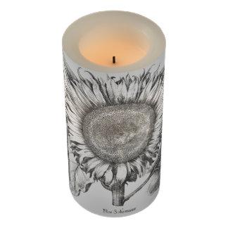 ヴィンテージのヒマワリによっては花のFlameless蝋燭が開花します LEDキャンドル