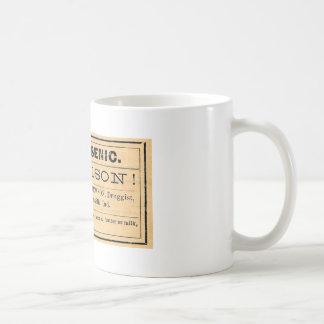 ヴィンテージのヒ素の毒ラベルのマグ コーヒーマグカップ