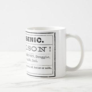 ヴィンテージのヒ素の毒ラベル コーヒーマグカップ