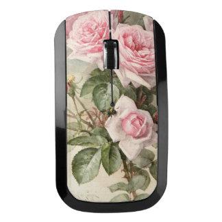 ヴィンテージのビクトリアンでロマンチックなバラ ワイヤレスマウス