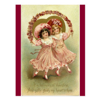 ヴィンテージのビクトリアンなバレンタインの天使 ポストカード