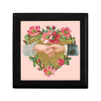ヴィンテージのビクトリアンなバレンタインデー、手wは開花します ギフトボックス