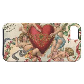 ヴィンテージのビクトリアンなバレンタイン、天使の天使のハート iPhone 5 Case-Mate ケース