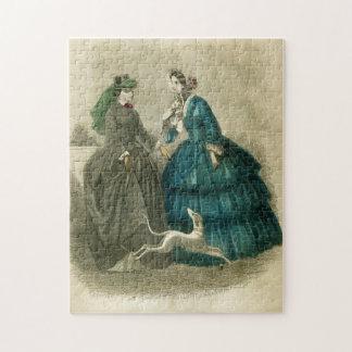 ヴィンテージのビクトリアンなファッションの写真のパズル ジグソーパズル