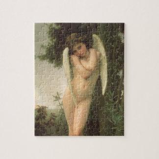 ヴィンテージのビクトリアンな天使の芸術、Bouguereau著キューピッド ジグソーパズル