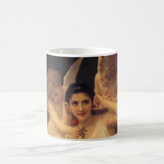 ヴィンテージのビクトリアンな天使、Bouguereau著青年 コーヒーマグカップ