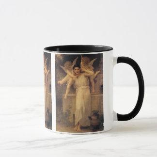 ヴィンテージのビクトリアンな天使、Bouguereau著青年 マグカップ