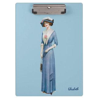 ヴィンテージのビクトリアンな女性ファッションのクリップボード クリップボード