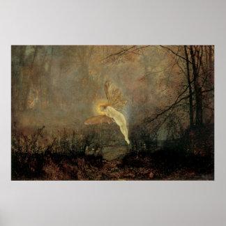 ヴィンテージのビクトリアンな妖精、真夏の夜、Grimshaw ポスター