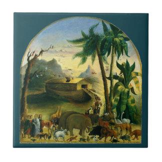 ヴィンテージのビクトリアンな民芸、Hidley著ノアの箱舟 タイル
