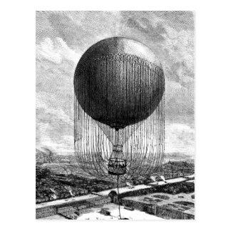 ヴィンテージのビクトリアンな気球の飛行船 ポストカード