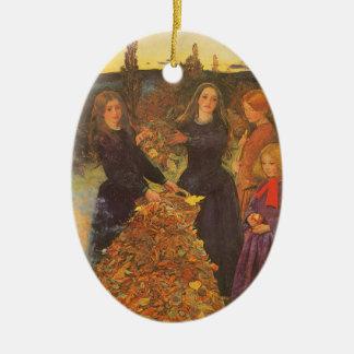 ヴィンテージのビクトリアンな芸術、Millais著紅葉 セラミックオーナメント