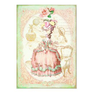 ヴィンテージのビクトリア時代の人のばら色の誕生日のパーティの招待状 カード