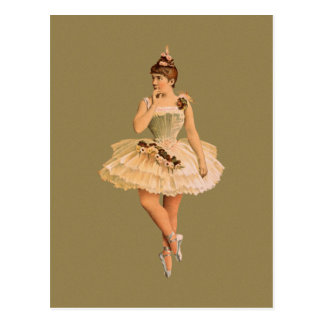 ヴィンテージのビクトリア時代の人のバレリーナ ポストカード