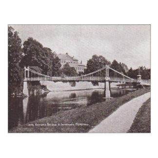 ヴィンテージのビクトリア橋、付属診療所Hertford 1925年 ポストカード