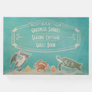 ヴィンテージのビーチの海洋生物の休暇のレンタルの歓迎 ゲストブック