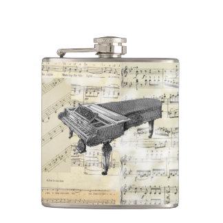 ヴィンテージのピアノ音楽フラスコ フラスク