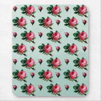 ヴィンテージのピンクのキャベツバラ マウスパッド