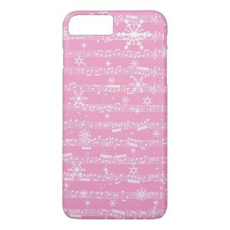 ヴィンテージのピンクのクリスマスのミュージカルシート iPhone 8 PLUS/7 PLUSケース