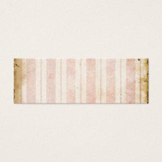 ヴィンテージのピンクのストライプ スキニー名刺