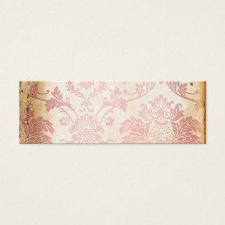 ヴィンテージのピンクのダマスク織 スキニー名刺