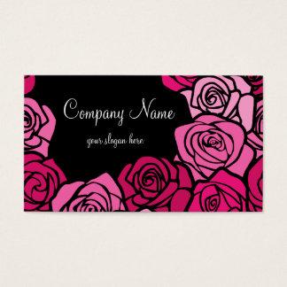 ヴィンテージのピンクのバラの名刺 名刺