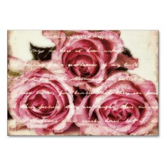 ヴィンテージのピンクのバラ カード