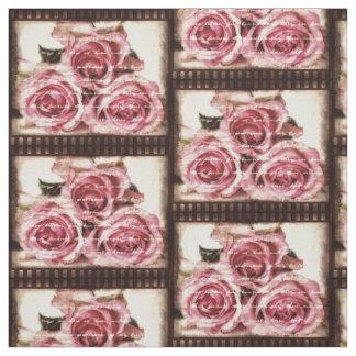ヴィンテージのピンクのバラ ファブリック