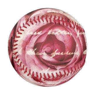 ヴィンテージのピンクのバラ ベースボール