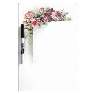 ヴィンテージのピンクのバラ ホワイトボード
