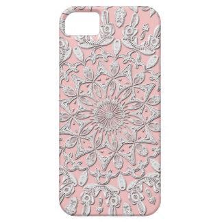 ヴィンテージのピンクのレース#4のiPhoneの場合 iPhone SE/5/5s ケース